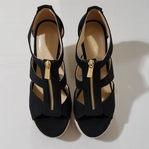 Michael Kors black wedge size 8